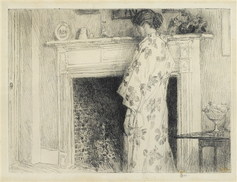the white kimono by childe hassam
