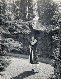 anna pavlova in the grounds of ivy house (set of 5 works) by james abbe