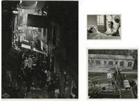 marcel carné pendant les prises de vue hôtel du nord (3 works) by roger kahan