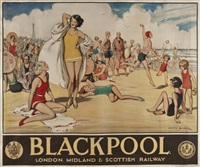 blackpool, lms by lewis baumer