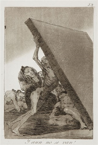 y aun no se van pl59 from caprices by francisco de goya