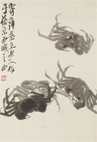 four crabs by qi baishi