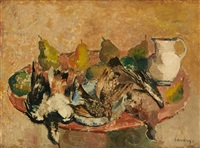 nature morte aux poires by albert saverys
