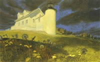 lighthouse dandelions by jamie wyeth