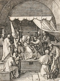 der tod der heiligen jungfrau (after dürer) by hieronymus hopfer