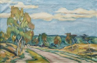 country road by ernst odefey