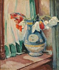 tulipes sur la fenêtre by czeslaw zawadzinski