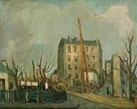 vue de montmartre by alphonse léon quizet