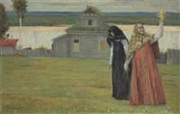 two sisters by mikhail vasilievich nesterov
