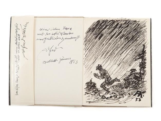 expressive ink drawing in the bk der sturz des blinden by linus kefer by alfred kubin