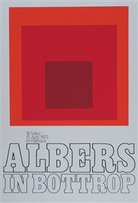 albers in bottrop (plakat) by josef albers