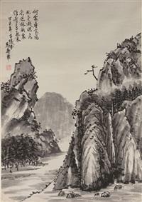 山中图 立轴 纸本 by ma shouhua