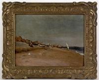 beach scene by frank lewis emanuel