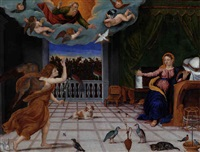 the annunciation by francesco di gerolamo da santacroce