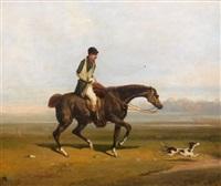 cavallier blessé et son chien by victor camoin