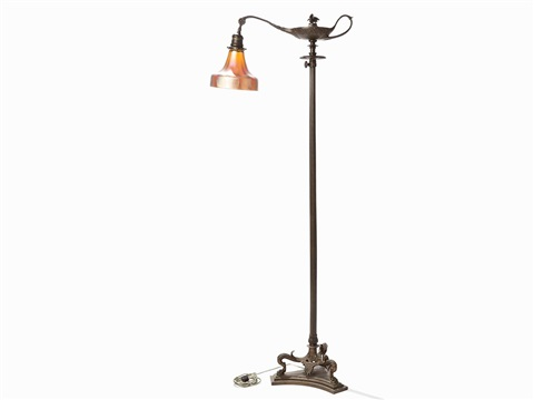 Aladdin floor lamp with glass shade by tiffany studios on artnet aladdin floor lamp with glass shade by tiffany studios aloadofball Image collections