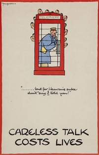 careless talk costs lives by fougasse (cyril kenneth bird)