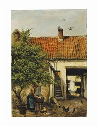 washing in the courtyard by frans jan simons