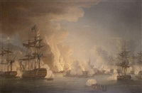 the bombardment of algiers, 27th august 1816 by thomas whitcombe