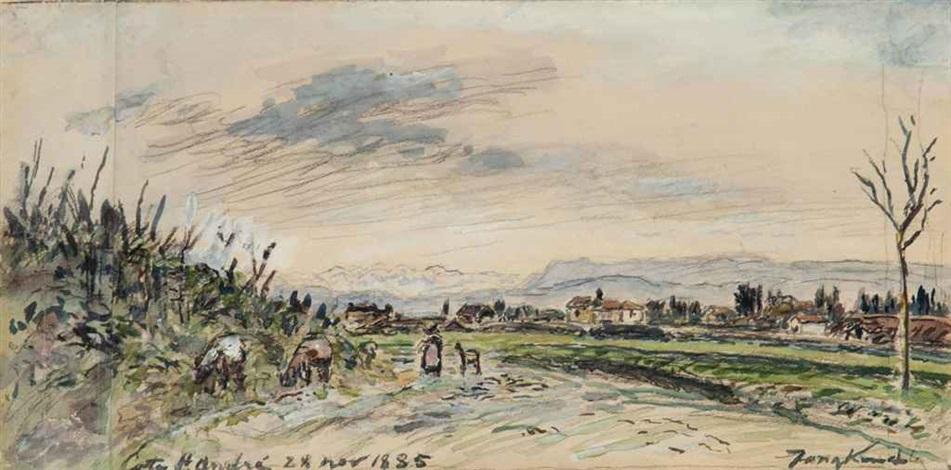 la côte de st andré by johan barthold jongkind