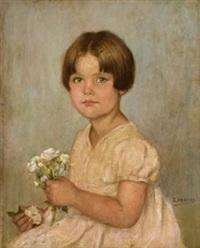 retrato de niña by rafael argeles y escriche