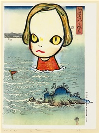 ocean child (from in the floating world) by yoshitomo nara