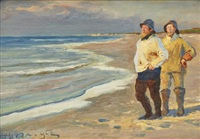 fiskare vid skagens strand by peder severin krøyer