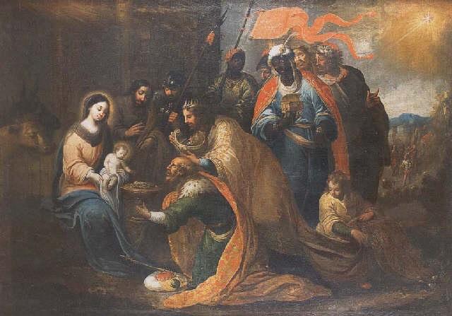 la adoración de los pastores by matías arteaga y alfaro
