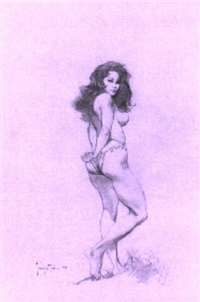 nude woman by frank frazetta