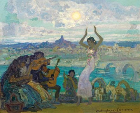 baile gitano the gypsy dance by hermenegildo anglada camarasa