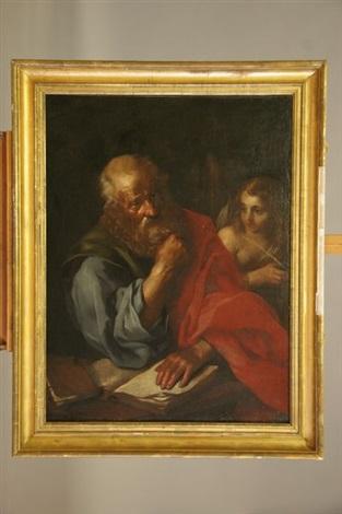 saint mathieu et lange by giovanni battista langetti