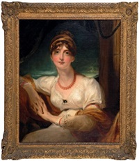 portrait de lady harriet hamilton (1781-1803) by thomas lawrence