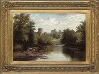 barnard castle, on the river tees, durham by joseph mellor