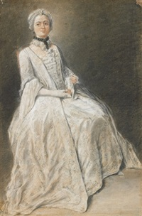 portrait de femme assise by louis aubert