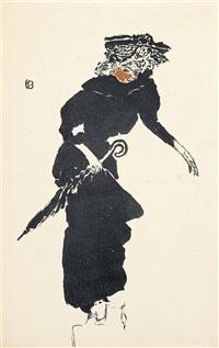 femme au parapluie by pierre bonnard