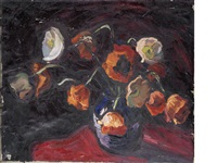 still life of flowers by theodore major