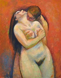 couple embracing by noel jack counihan