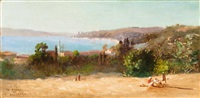 vue panoramique du bosphore by charles théodore (frère bey) frère