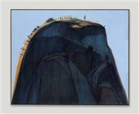 blue hill by wayne thiebaud