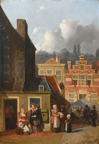 a busy street by joseph bles
