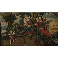 the flight into egypt by andean school (18)