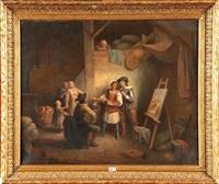 dans l'atelier du peintre by félix van den eycken