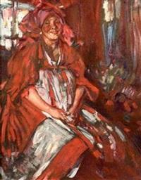 paysanne russe en costume by abram efimovich arkhipov