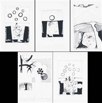 senza titolo (portfolio of 5) by andrea gabbriellini