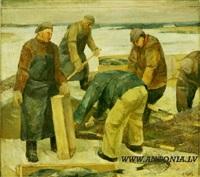 winter fishing by vilis ozols