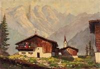 bergbauerndorf by otmar karl kratochwill