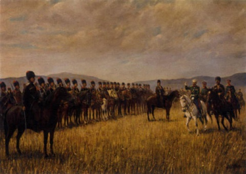 addressing the troops by nikolai alexeievich kasatkin