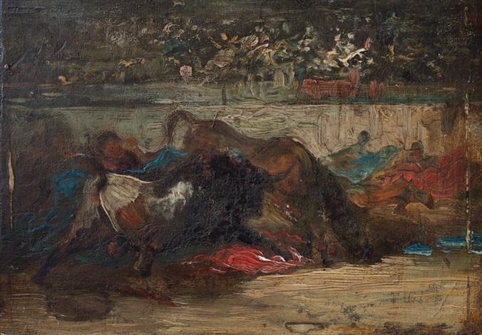 corrida de toros by eugenio lucas villamil