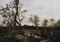 paesaggio all'imbrunire by ezelino briante