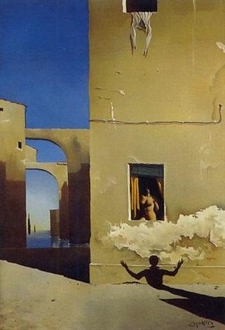 femme à la fenêtre by josé manuel capuletti